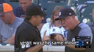 Ron Gardenhire gets ejected for arguing a balk call, a breakdown (hot mics)