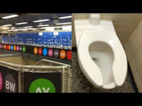 NYC Subway Public Restrooms Second Avenue Line YouTube - Public bathrooms nyc