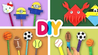 4 Exciting BACK TO SCHOOL Crafts you can do with your kid | Fast-n-Easy | DIY Arts & Crafts for Kids