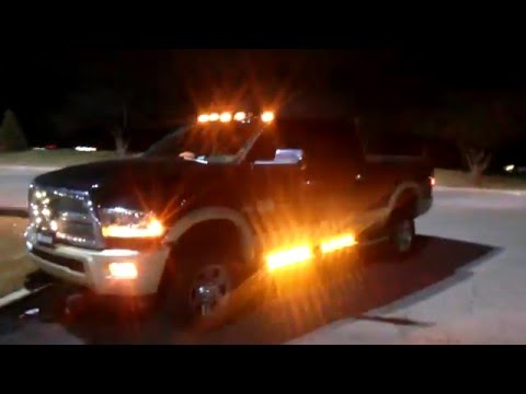2015 Dodge Ram DUAL COLOR Led Strobe www.WickedWarnings.com