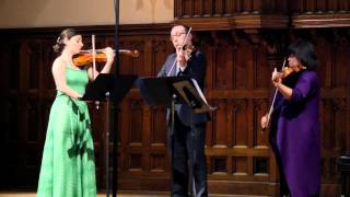 Kodaly: Serenade for Two Violins and Viola, Mvt I - ChamberFest Cleveland (2014)