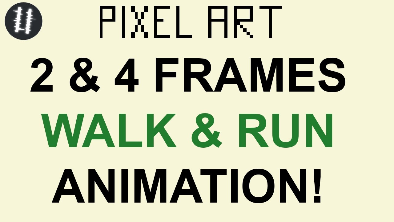 How To Pixel Art Tutorials [12] - 2&4 Frames Walk/Run Cycle ...