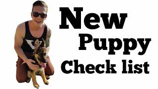 New puppy checklist | New German Shepherd puppy