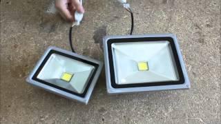 Светодиодный прожектор jazzway 20Вт и 30Вт | Ночной тест светодиодного прожектора | led прожектор(Прикупил 2 led прожектора и решил сравнить их, а об этом снять видео. Здесь вы можете увидеть характеристики..., 2016-04-25T02:02:24.000Z)