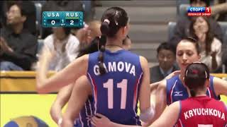 Volleyball-WOMEN'S WORLD CHAMPIONSHIP JAPAN 2010 semifinal-USA vs Russia