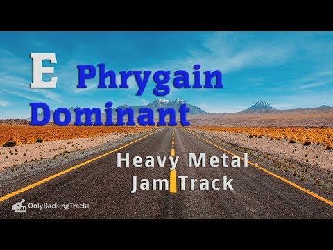 E Phrygian Dominant Metal Backing track 122 Bpm