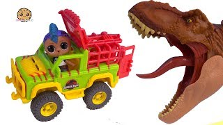 Punk Boi Feeds Jurassic World T Rex Dinosaurs From Car ! Toy Video