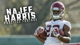 Watch Najee Harris run drills during the Alabama Crimson Tide