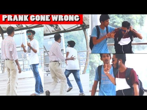 Showing Middle Finger Prank (Gone Wrong) | Prank in india | B 4 Bachao Prank