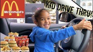 KID DRIVE THRU ORDERING MC DONALDS!!!!! +MUKBANG (MUST WATCH)
