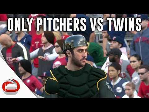 CAN A TEAM OF ONLY STARTING PITCHERS BEAT THE MINNESOTA TWINS? - MLB THE SHOW 17