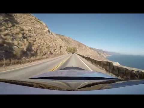 Driving on highway 1 in California