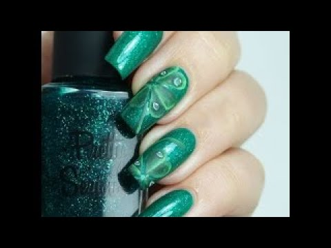 St. Patricks Day Nail Art Designs Green Clover Nails