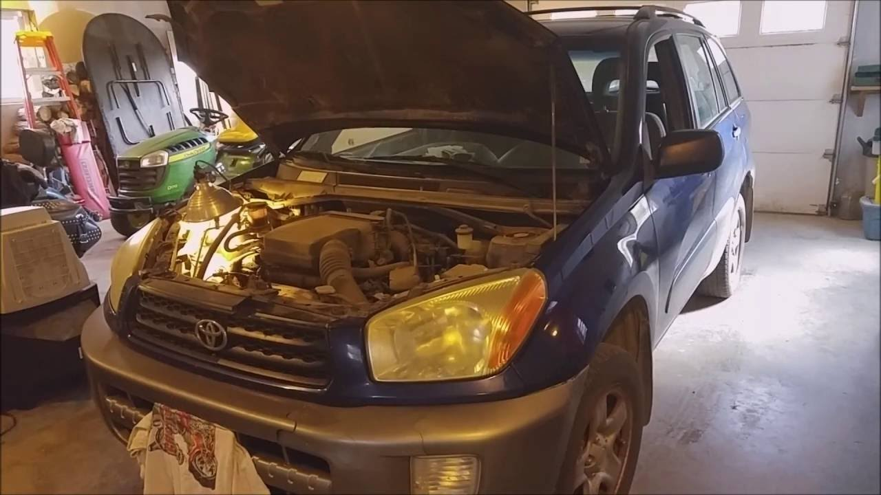 2003 Toyota RAV4 Serpentine Belt Replacement  YouTube
