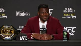 UFC 260: Francis Ngannou Post-Fight Press Conference