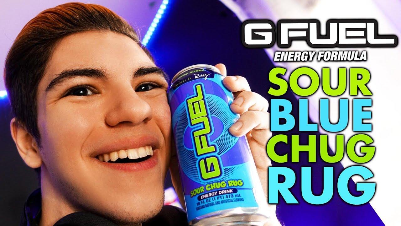 Sour Blue Chug Rug Can Faze Rug Gfuel Unboxing Taste Test Youtube