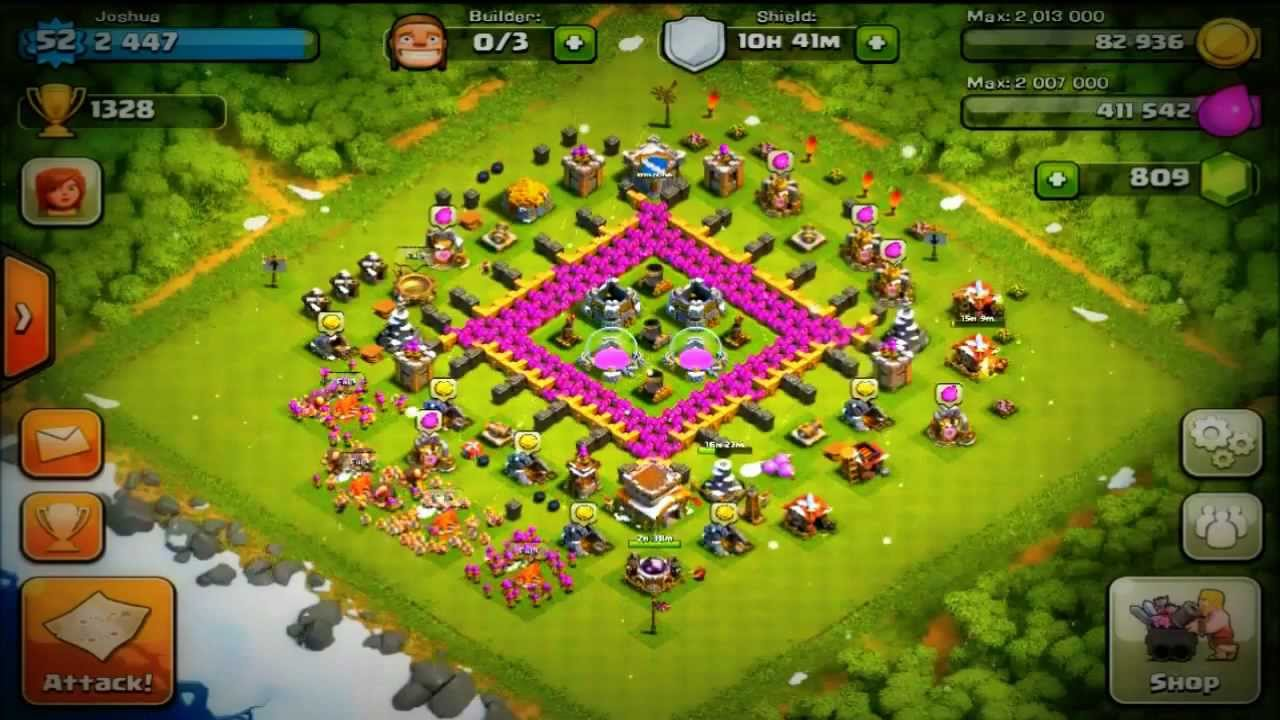 Clash of clans best defense to protect gold amp elixir youtube