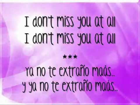 I don t miss you at all