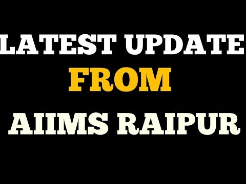 Latest update from Aiims raipur,  aiims raipur uploaded admit card
