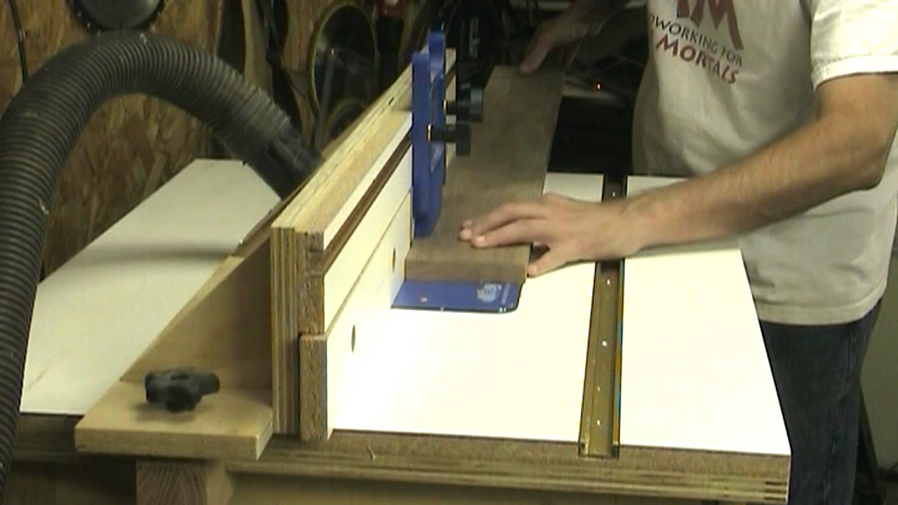 Using A Router As An Edge Jointer Youtube