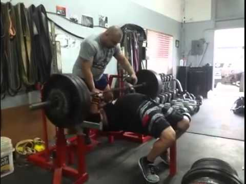 Bobby Morgan 370x3 bench press