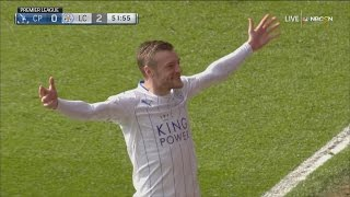 Jamie Vardy doubles Leicester City's lead
