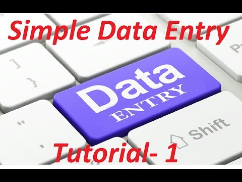Simple Data Entry Job Full Bangla Tutorial 2017 || Data Entry  Lesson- 1||