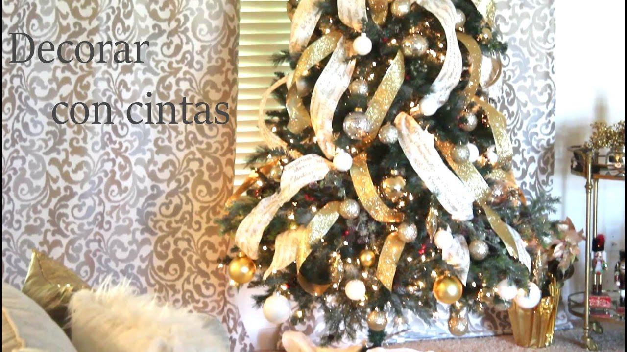 Decorar El Arbol Con Cintas.Decorando El Arbol Con Cintas Navidad