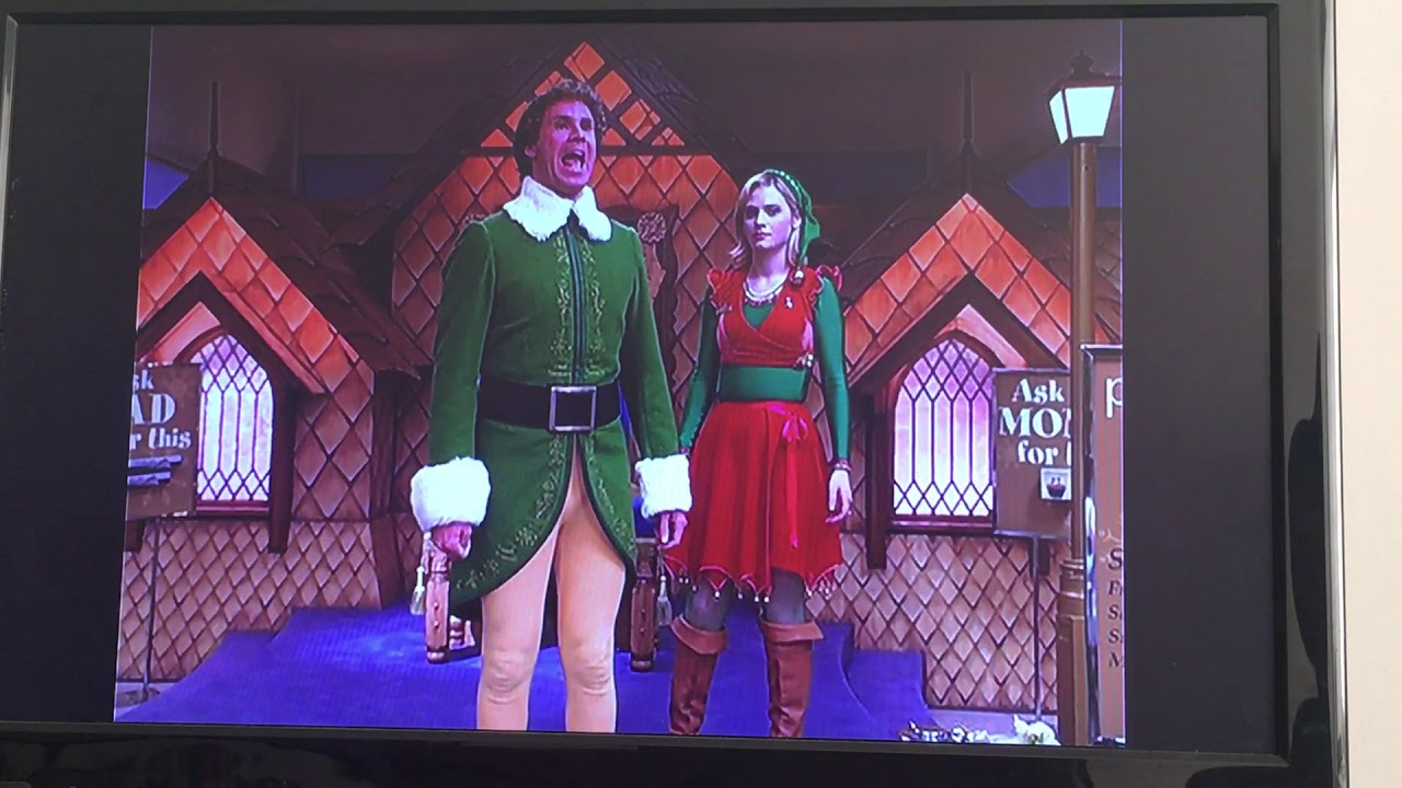 Elf movie Buddy the Elf I/'m Singing I/'m in a Store and I/'m Singing Bella Wide neck Sweatshirt Off the shoulder slouchy long sleeve shirt