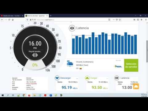 Prueba Internet Movistar - YouTube