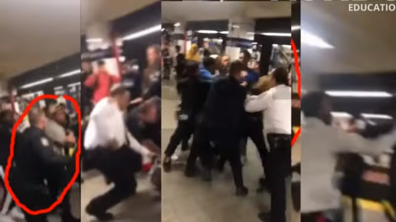 |NEWS| White Cop Assaults Multiple Black Teens In NY |Jay Street - Metrotech Station|