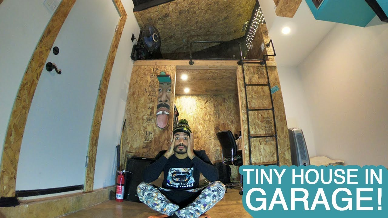 Tiny house in garage tiny house project youtube