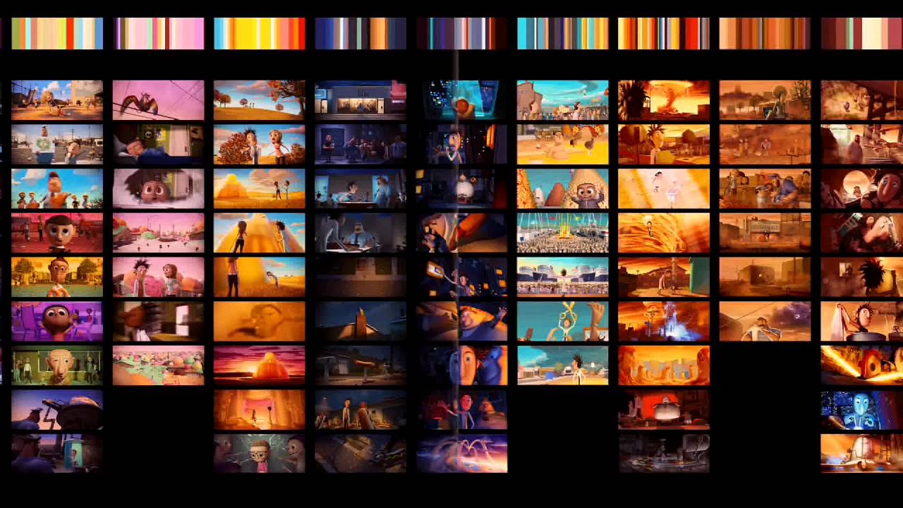cloudy with a chance of meatballs making of the color script