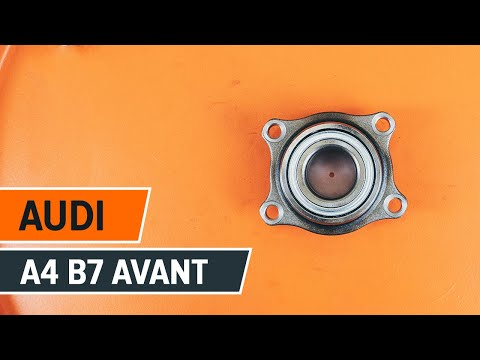 How to replaceFront wheel bearing onAUDI A4 B7 AVANTTUTORIAL | AUTODOC