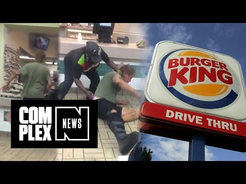 Racist Customer Gets His Ass Beaten by Burger King Employees