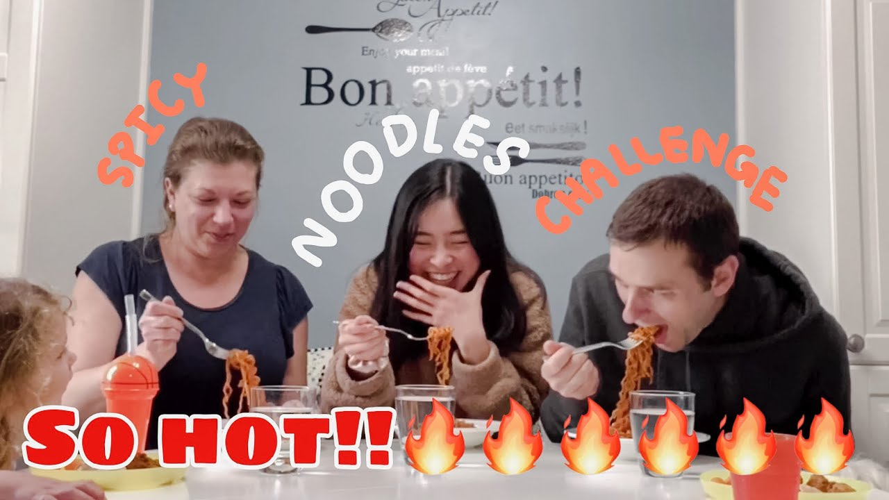 Spicy noodles challenge!! ฝรั่งกินเผ็ดโหดมากกกก🔥🔥