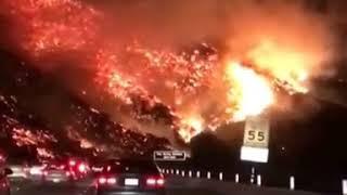 آتش سوزی وحشتناک جنگلهای کالیفرنیا،  دسامبر 2017