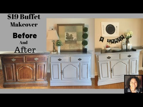 Be Thrifty! Buffet Console Makeover