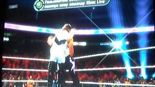 Бой против Кевина Нэша (DIESEL) с самовольным появлением ДЭНИЭЛА БРАИНА на WWE UNIVERSE