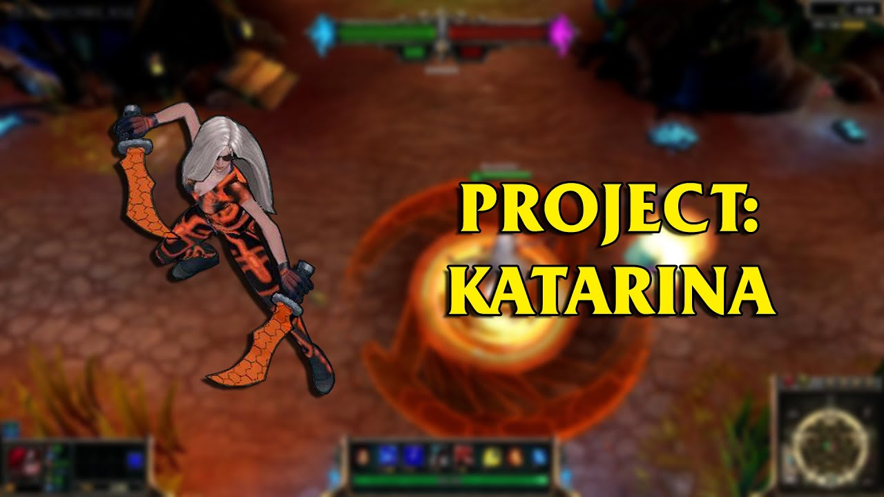 Project katarina lol custom skin showcase youtube