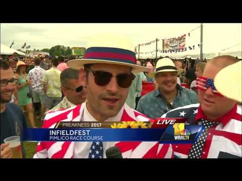Video: Infieldfest fans enjoying Preakness day