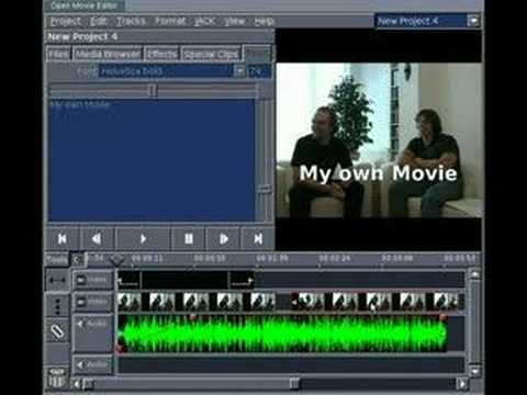 Linux Video Editing With Open Movie Editor Youtube