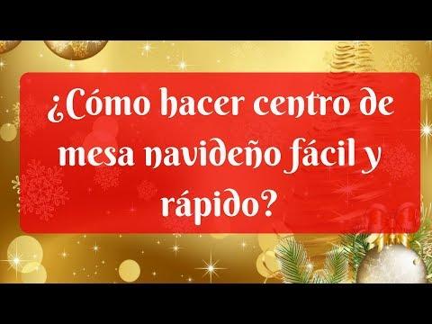 ¿Cómo hacer centro de mesa navideño fácil y rápido?