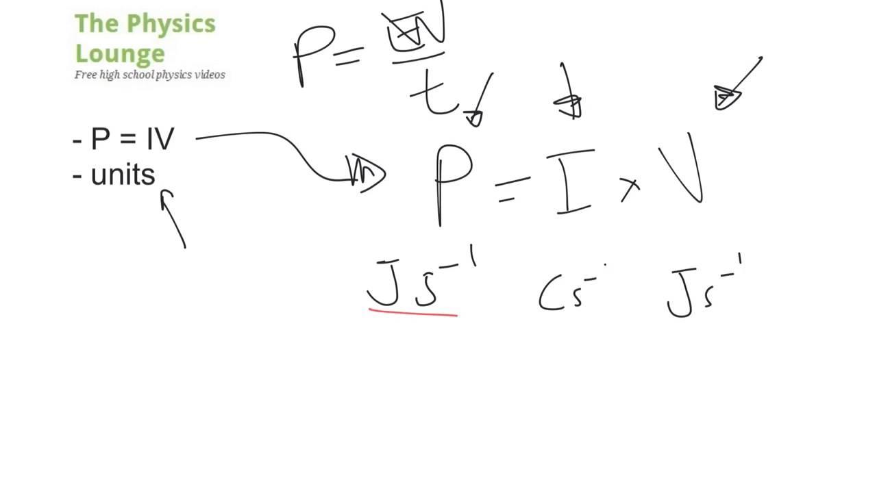 Electric power: formula, units 14