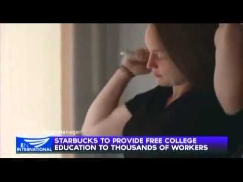Starbucks to provide free college education to thousands of workers