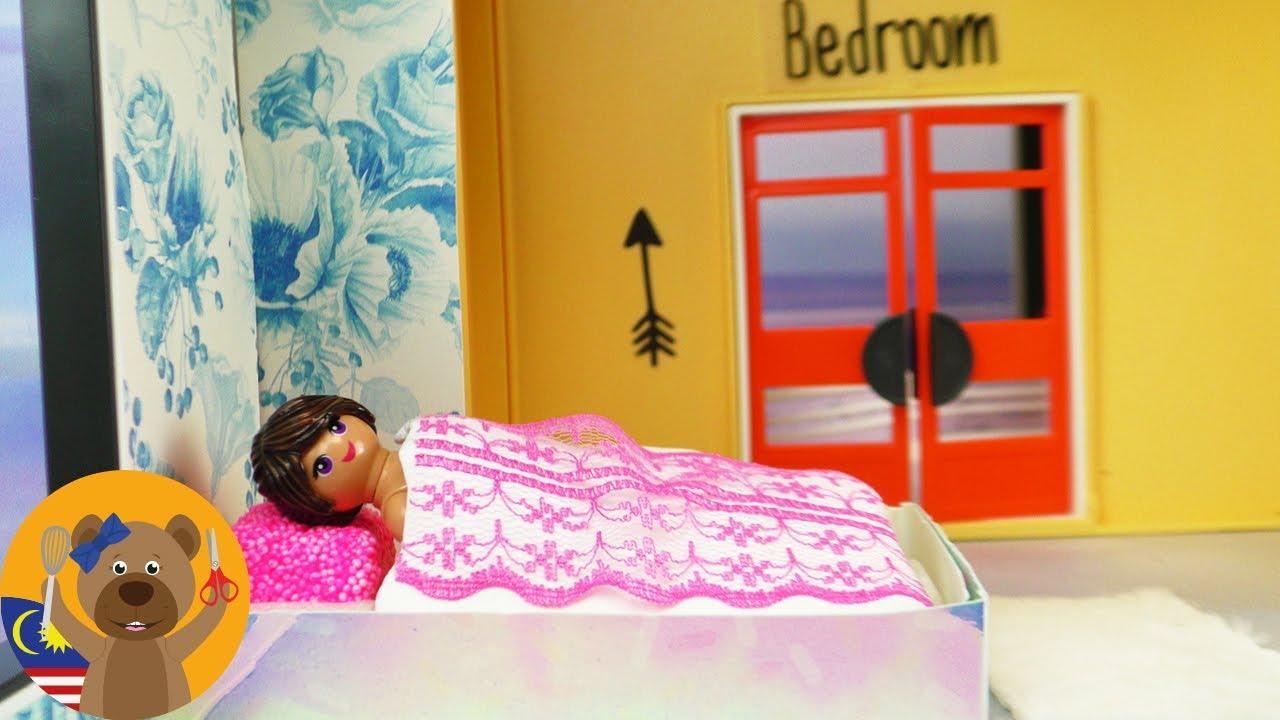 Diy Hias Villa Mewah Playmobil Bilik Tidur Baharu Stella Tattoo Dinding Bunga Untuk