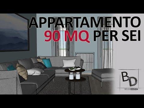Appartamento di 90 mq per 6 | Idee d'Arredo | Belula Design