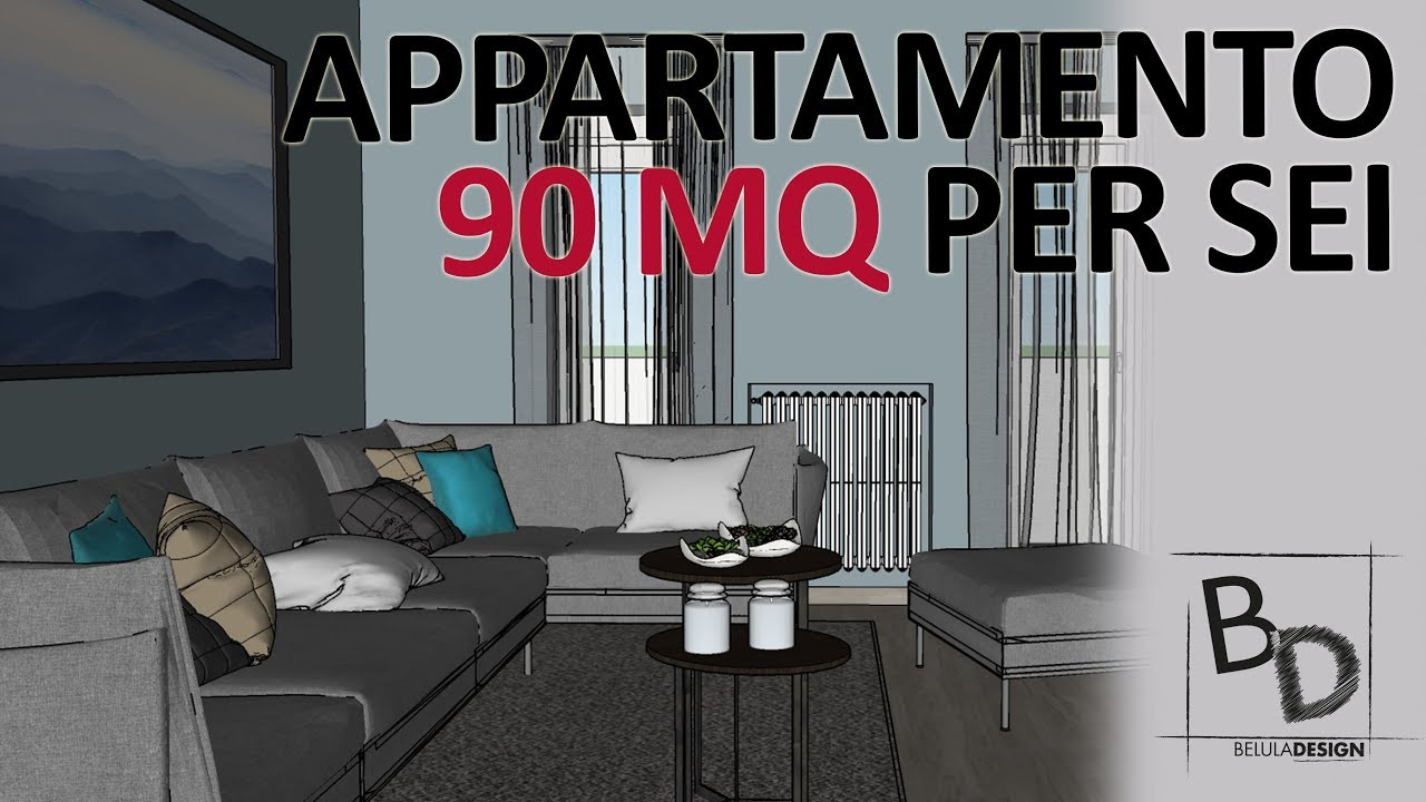 Appartamento Di 90 Mq Per 6 Idee D Arredo Belula Design