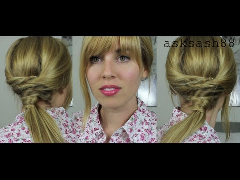 easy ponytail styles for long hair unique twisted ponytail easy hairstyles for hair 7794 | hqdefault