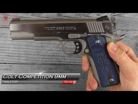 Colt Competition 9mm 1911 Tabletop Review and Field Strip.